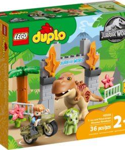 A Fuga dos Dinossauros T-Rex e Triceratops - LEGO Duplo