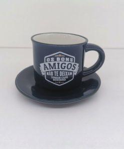 Prato para Chávena H&H Azul Escuro