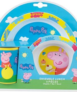 Conjunto de Refeição Porquinha Peppa 3 Peças
