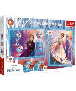Puzzle Frozen - 2 em 1 com Memo