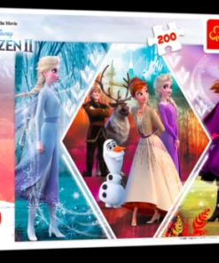 Puzzle Frozen II - 200 Pcs - Irmãs